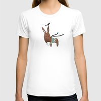 donkey T-shirts featuring Happy Donkey by Kristina Sabaite