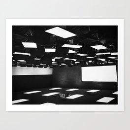 High Contrast Black and White modern day classroom Art Print