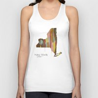 new york map Tank Tops featuring new york state map by bri.buckley