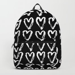 Black & White-Love Heart Pattern- Mix & Match with Simplicty of life Backpack