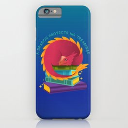 A Dragon Protects His Treasure blue version iPhone Case