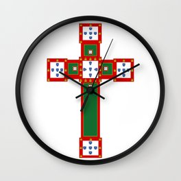 Portuguese cross Wall Clock