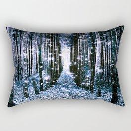 Magical Forest Dark Blue Elegance Rectangular Pillow