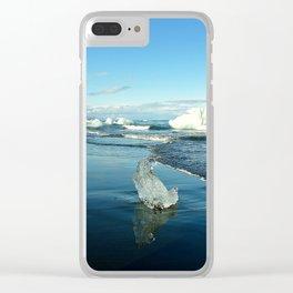 Jokulsarlon Beach II, Iceland Clear iPhone Case