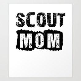 Scout Mum Art Print