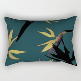 Fall print in forest green and mustard (also available in navy and blue) Rectangular Pillow