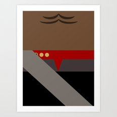 Worf - Minimalist Star Trek DS9 Deep Space Nine - Lieutenant Commander - startrek - Trektangles Art Print