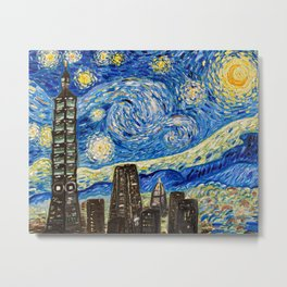 Starry Night Taipei Metal Print