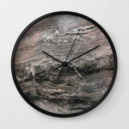 Smokey gray marble Wall Clock