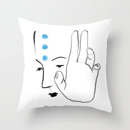Hand and Thought Throw Pillow