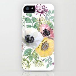 Bouquet with anemones iPhone Case