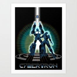 CyberTRON (G1 Optimus Prime Transformers TRON)  Art Print