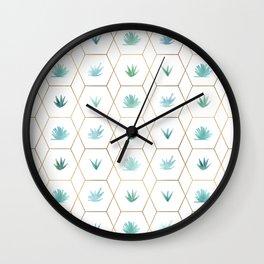 Geometric Succulents Wall Clock