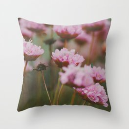 Pale Pink Flowers Throw Pillow