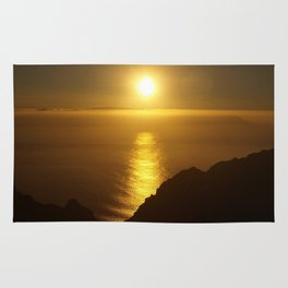 Sunset over the Canary Islands Rug