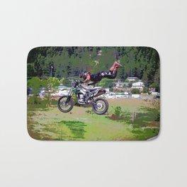 FMX Motocross Freestyle Stunt Rider Bath Mat