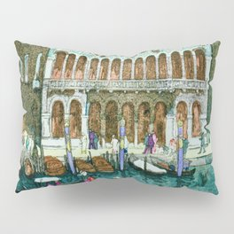 Canals In Venice - Digital Remastered Edition Pillow Sham