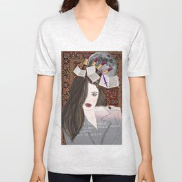 Intelligence and Beauty  Unisex V-Neck