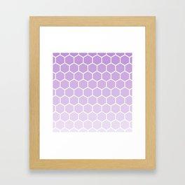 Lavender gradient honey comb pattern Framed Art Print