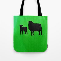 sheep Tote Bags featuring Sheep by Brontosaurus