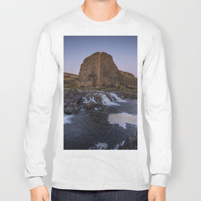 Palouse Falls - Waterfall Sunset Long Sleeve T-shirt