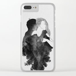 You are my peaceful heaven b&w. Clear iPhone Case