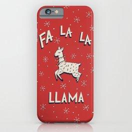 Fa La La Llama iPhone Case