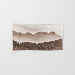 The mountain beyond the forest Hand & Bath Towel