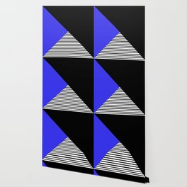 Blue & Black Geometric Abstraction Wallpaper