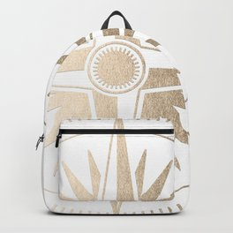 Gold on White Compass Backpack