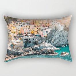 Manarola Town in Cinque Terre Rectangular Pillow