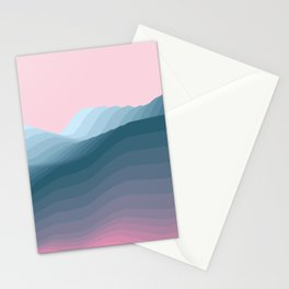 iso mountain Stationery Cards