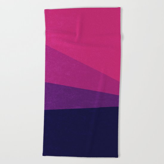 Stripe VII Ultraviolet Beach Towel