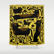 GARDEN DOGS Shower Curtain