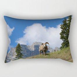 Ram Against Mountain Backdrop Rectangular Pillow