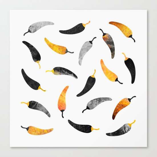 Chili Pattern 1 Canvas Print