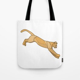 Geometric Mountain Lion / Cougar Tote Bag