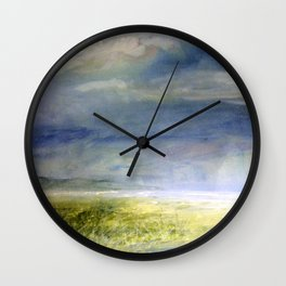 Sea Shore Watercolor Ocean Landscape Nature Art Wall Clock