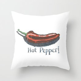 Hot Pepper! Throw Pillow