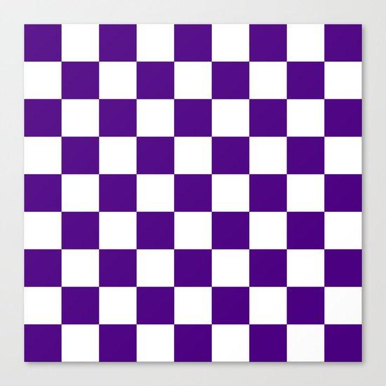 Checker (Indigo/White) Canvas Print