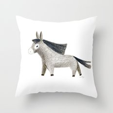 Little Donkey Throw Pillow