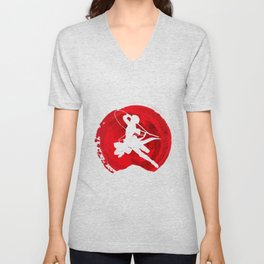 Red Levi akerman Unisex V-Neck