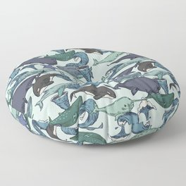 Very Whale! Floor Pillow