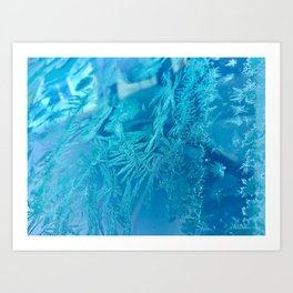 Hoar Frost Ice Crystals Art Print