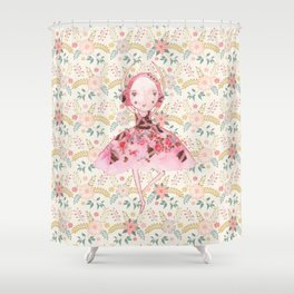 Isabella Bellarina Dancing in Flowers Shower Curtain