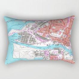 Vintage Map of Oakland California (1959) Rectangular Pillow