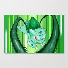 Grass Pocket Monster - 001 Canvas Print
