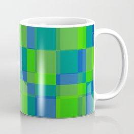 Squares Retro Style blue green Coffee Mug