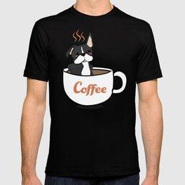 Frenchie, in a Coffee Mug T-shirt