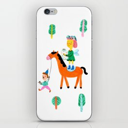 Colorful Cheerful Forest iPhone Skin